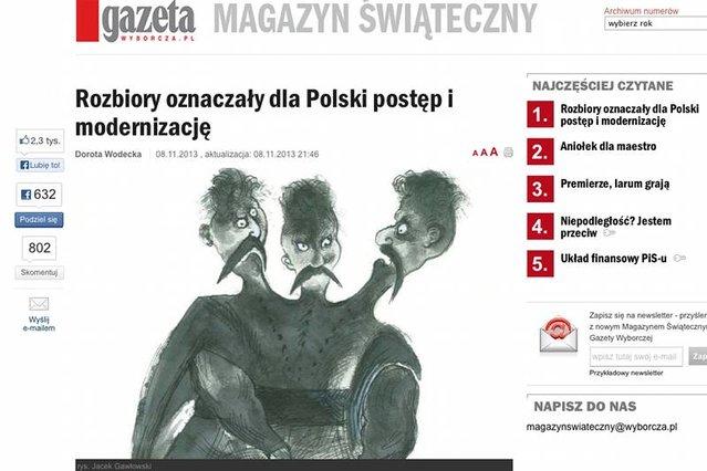 wyborcza-rozbiory-oznaczaly-dla-polski-postep-i-mdoernizacje-2013